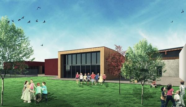 Un'immagine di come sarà la nuova scuola elementare
